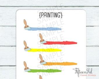 paint brush stickers -J043