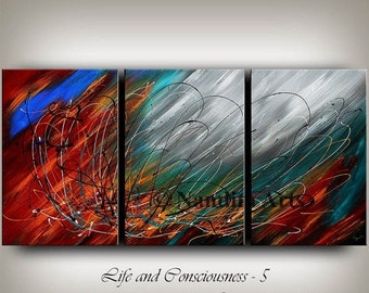 SALE - ABSTRACT ART Original Painting Large Red , Black and Black Impasto Fine Art Gallery Surreal Contemporary Art Daily Artwork Nandita Al