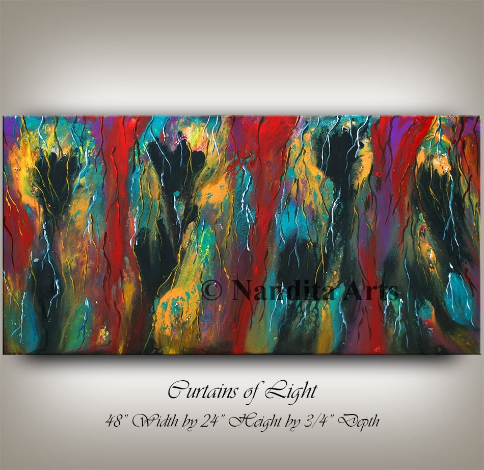 Original acrylic abstract painting abstract modern art or for Modern abstract paintings for sale