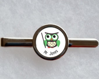 Personalised Teacher Tie Clip - can be fully personalised