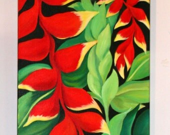 TROPICAL HELICONIA FLOWER -
