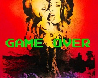 Game Over 21 x 30- Giclee Print of Original Painting