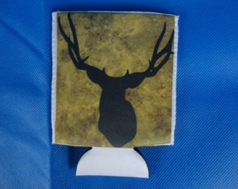 Insulated Beverage holder with deer silhouette