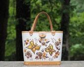 Vintage Enid Collins Delicate Duo Butterfly Handbag Mint Condition / Collins of Texas Handbag / Tandy Leather Handbag / Enid Handbag