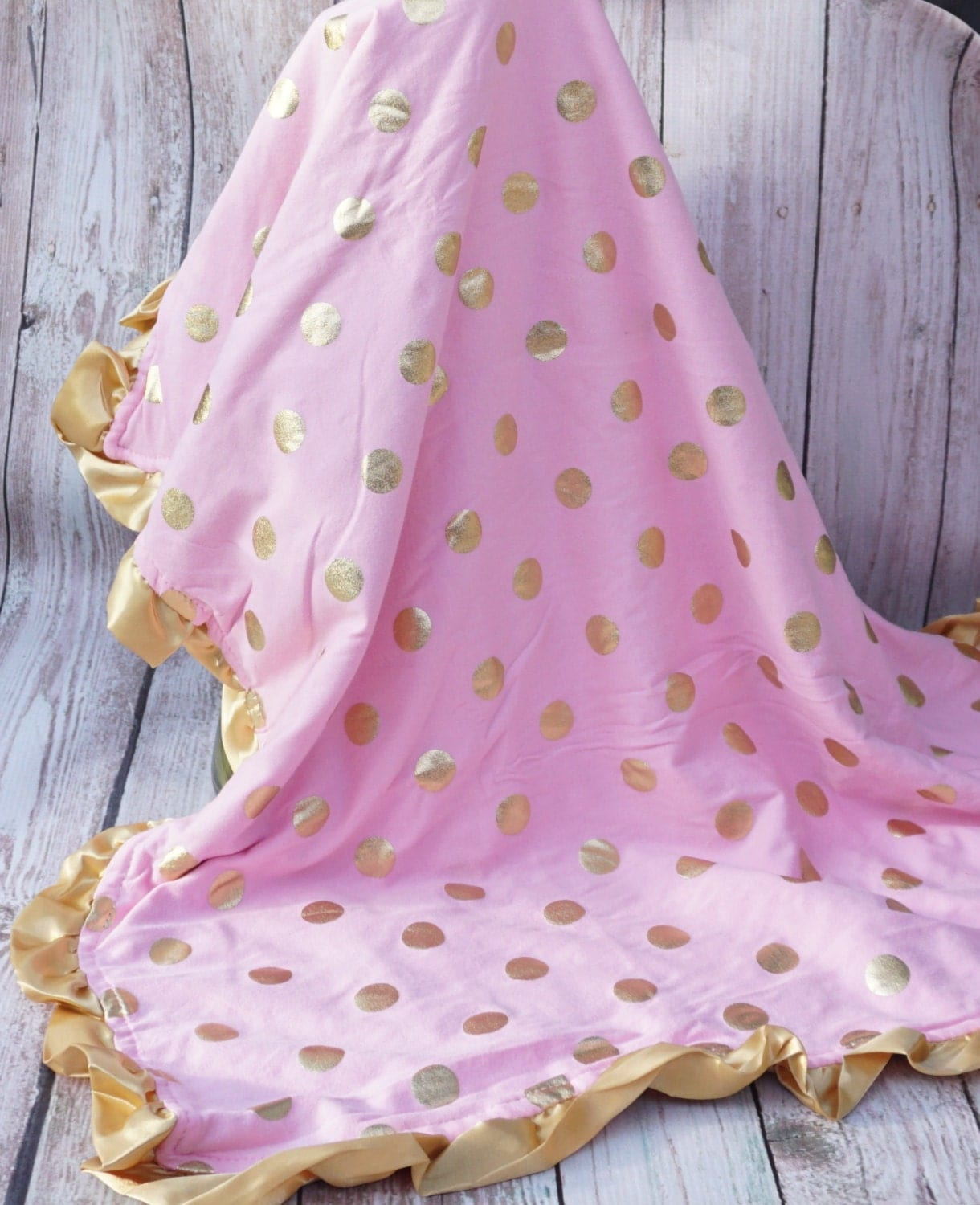 Baby Girl Baby Blanket Pink And Gold Baby Blanket