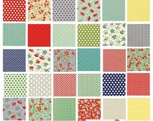 Rare Moda Bonnie Camille April Showers Charm Pack Fabric Very RARE! out of print So beautiful! VHTF