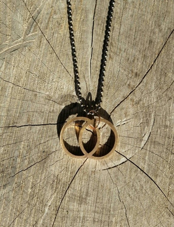 Vesica Piscis Cast Bronze Pendant - Sacred Geometry - Healing