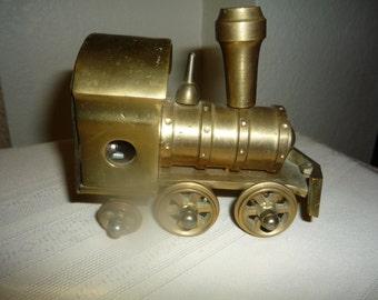 Antique Brass Enesco Musical Windup Train