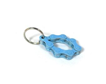 Bicycle Chain Keyring - Loop Blue