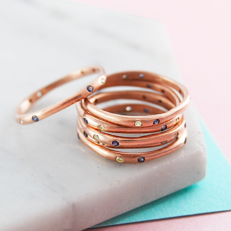 stackable rings rose gold ring birthstone ring gemstone. Black Bedroom Furniture Sets. Home Design Ideas