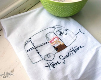 "PDF Camper Embroidery pattern - ""HOME SWEET Home"" camper"
