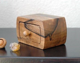 Engagement Ring Box Wedding Ring Box Small Walnut Wood Box Wooden Ring box
