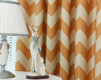Yellow chevron curtain – Etsy UK