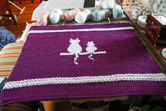 Pet Blanket, Cat Blanket, Dog Blanket, Any Pet Blanket, Silhouette Blanket, Custom Order