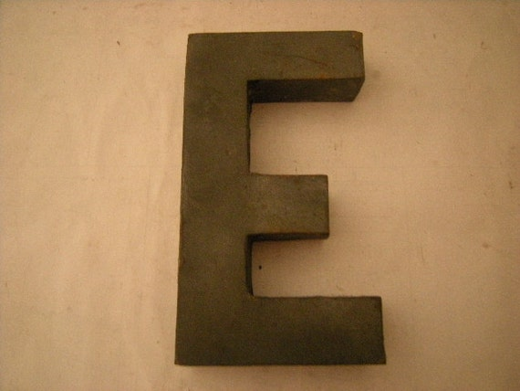 vintage metal letters for the wall vintage letter e metal letter your initial wall 14776
