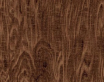 Rich Dark Brown Wood Grain Fabric, Stoney River, Northcott (By 1/2 yard)