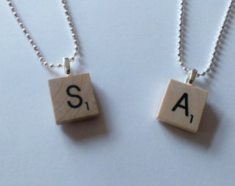 YOU CHOOSE Spencer Spoby inspired Scrabble Tile Wood Necklace