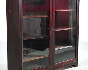 19th century 2 doors Mahogany Bookcase