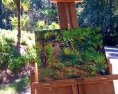 Custom Listing for Cynthia | Original Plein Air Oil Painting House Portrait