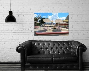 Canvas Gallery Wrap - Hey Cupcake - Vintage Airstream - Austin, TX - Fine Art Photography