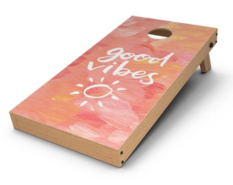 Good Vibes - Cornhole Board Skin Kit