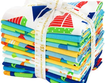 Ann Kelle Sea and Sun 14 Fat Quarter Bundle Robert Kaufman Fabrics FQ-1112-14~ Fast Shipping FQ571