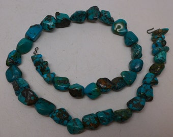 Vintage Turquoise Nugget Necklace