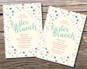 Easter Eggs/Easter Party Invitation/Easter Eggs/Easter Egg Hunt Party/Printable Easter Invitation/Easter Brunch/Digital Printable