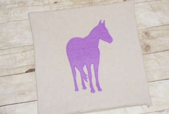 Horse Pillow Cover - 30 colors / Equestrian pillow / gift for horse lovers / horse silhouette / horse pillow / barn pillow / pony pillow