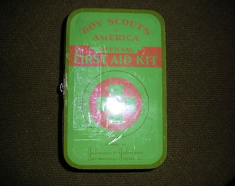 Boy Scout Vintage First Aid Kit