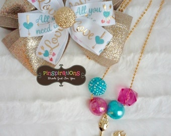 Arrows Necklace and Bow Set