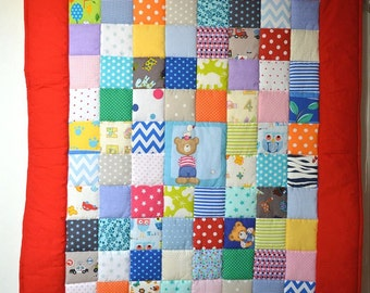 Unisex baby patchwork quilt cover