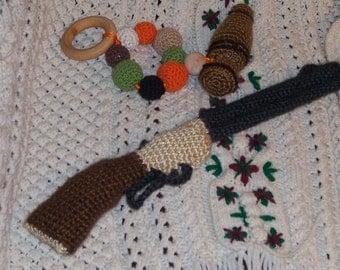 Crochet Henry Rifle, Littlest Hunter Rifle pattern, photo prop, baby toy