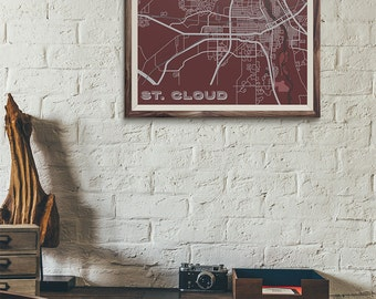 Cardinals Edition - St. Cloud Map print