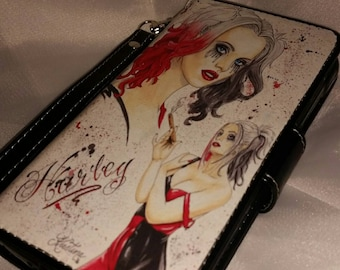 Harley Quinn - Wicked Wendy Designs exclusive Samsung Galaxy S5 Active cell phone wallet licensed