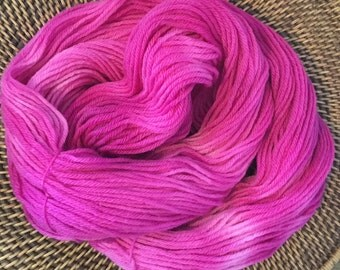 100% Wool Hand dyed Worsted Weight Yarn - Rosey Blush