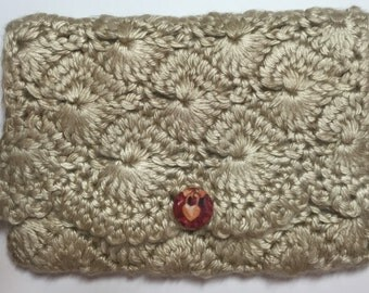 Crocheted Purse Pouch - Bone