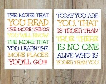 DR SEUSS NURSERY - Dr Seuss Wall Art - Dr Seuss Nursery Decor - Dr Seuss Playroom  - Jpeg Files - Instant Download - Self Print 11x 14 files