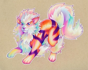 Colorful Arcanine PRINT