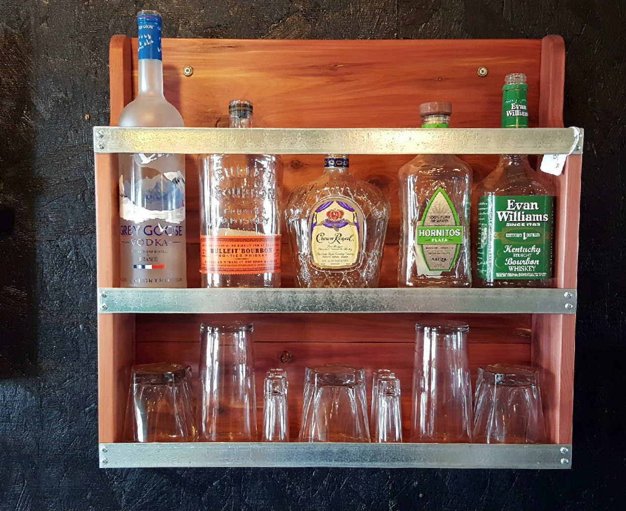 Liquor cabinet mini bar handcrafted cabinet by for How to build a mini bar cabinet