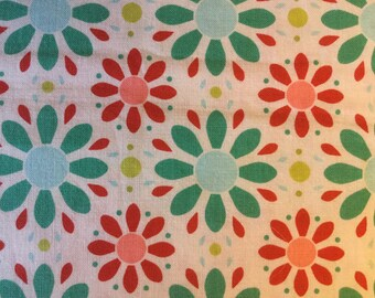 APPLE OF mY EYE by The Quilted Fish - Fabric - Petals in Red - Riley Blake Fabrics - Floral - Whimsical - Nursery - Quilting - Sewing