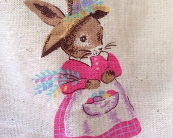 New Old Stock Easter Rabbits Tablecloth