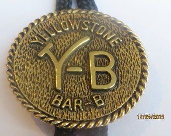 Yellowstone  Round Bar-B Ranch  Rustic   Bolo Tie     Lot  V