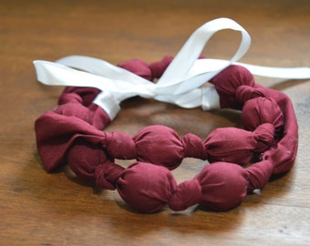 Solid Cranberry Nursing/Feeding/Teething Necklace