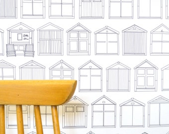 Beach Hut Wallpaper