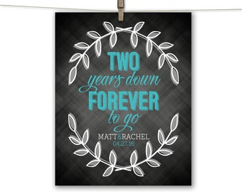 2nd anniversary gift for wife husband men cotton | second anniversary gift for him her | DIY printable, print or canvas