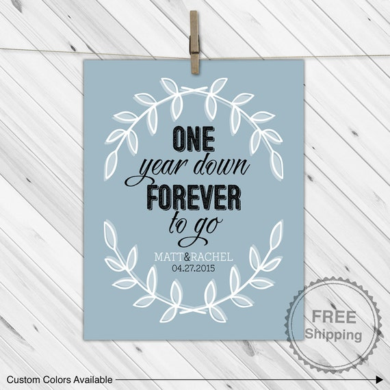 One year anniversary ideas 1st anniversary by willowlaneprints for 1st year anniversary gifts for her