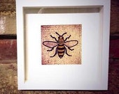 Colour photograph of The Manchester Bee / detail / mosaic / fine art print / wall art / Home decor