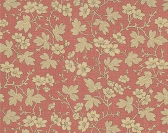 French General Floral Cornouille Red, Fabric by the Yard
