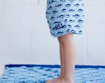 Monogrammed Boys Swim Trunks
